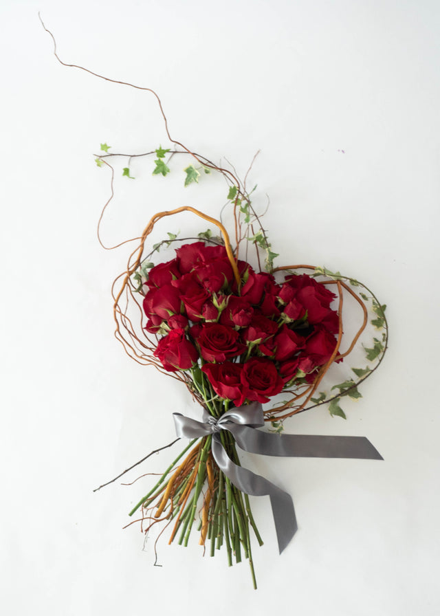 The Heart Shaped Rose Bouquet