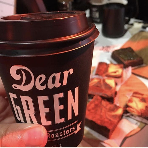 Where to get a Dear Green coffee by Dear Green!