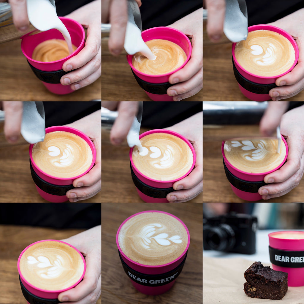 Latte Art Class At Dear Green Coffee Roasters