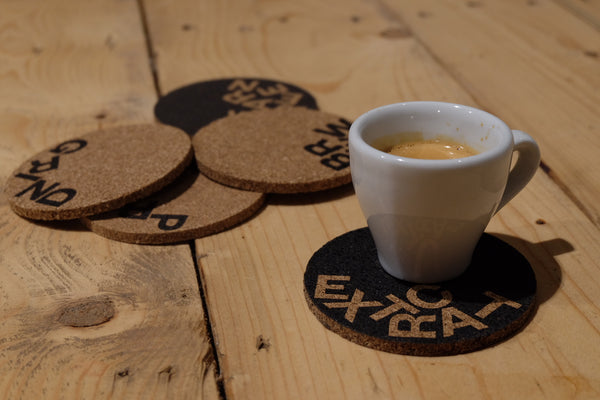 dear green coffee, coffee gift, coffee coasters, cork coasters