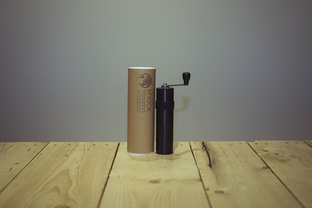 coffee GRINDER. Feldgrind. made by knock. hand grinder. burr grinder.