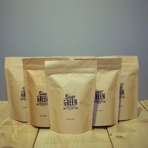 COFFEE SUBSCRIPTION. Dear Green.