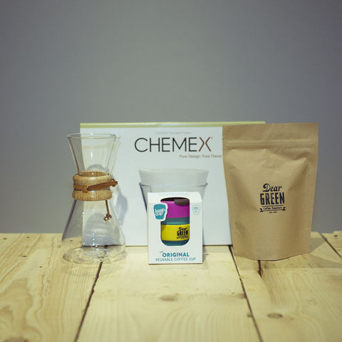 CHEMEX® - Brewing Bundle. Keep Cup. Dear Green Coffee Beans