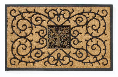 Personalized Coir Doormat with Monogram