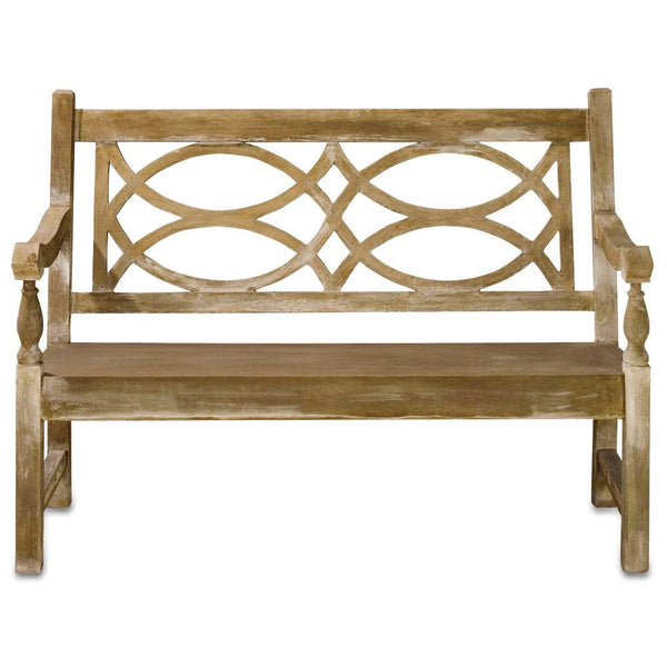 Currey and Company Hatfield Bench-Life on Plum by Currey and Company