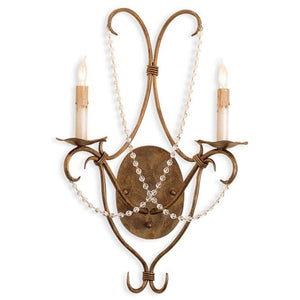 Currey and Company Crystal Lights Wall Sconce - Life onPlum
