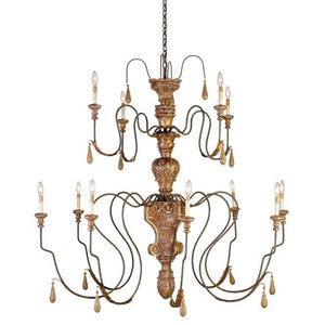Currey and Company Mansion Medium Chandelier - Life onPlum