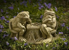 Campania International Checkmate Frogs Statue-Life on Plum by Campania International