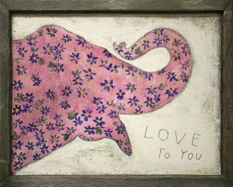 Image of Sugarboo Designs Art Print Pink Elephant - Life onPlum - 1