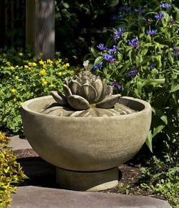 Campania International Smithsonian Lotus Fountain Life on Plum