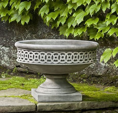 Campania International Williamsburg Low Fretwork Urn with Pedestal - Life onPlum - 1