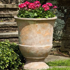 Campania International Lipari Terra Cotta Antiqued Urn - Life onPlum