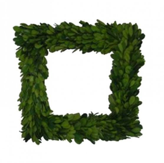 Mills Floral Preserved Boxwood 11-inch Square Wreath - Life onPlum