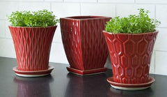 Campania International Fire Red Garden Terrace Set of 3-Life on Plum by Campania International