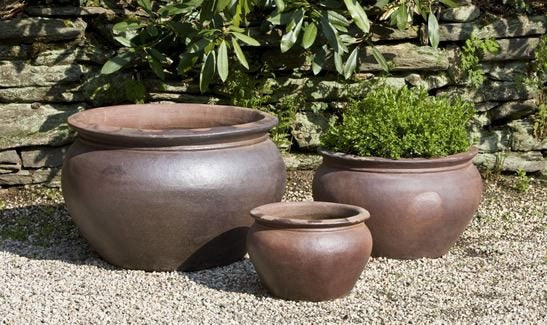 Campania International Luan Planter - Set of 3 - Black Clay - Life onPlum