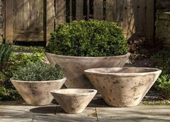 Campania International Brasilia Planter by - Set of Four in Antico Terra Cotta The Garden Gates