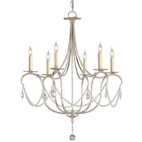Currey and Company Crystal Lights Small Chandelier - Life onPlum