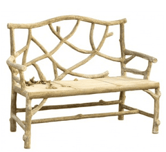 Currey and Company Woodland Bench-Life on Plum by Currey and Company