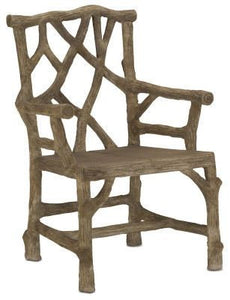 Currey and Company Woodland Arm Chair - Life onPlum