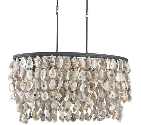 Image of Currey and Company Stillwater Oyster Chandelier - Life onPlum