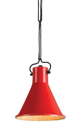Currey and Company Rooke Hanging Light in Red - Life onPlum