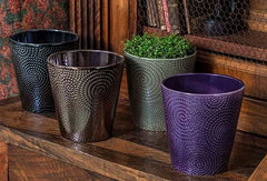 Campania International Boho Swirl Planter - Set of 8-Life on Plum by Campania International