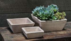 Campania International Earth Square Planter Set of Three in Sand - Life onPlum