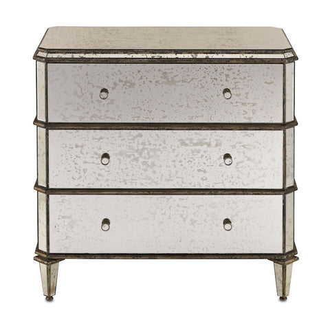 Image of Currey and Company Antiqued Mirror Chest of Drawers - Life onPlum - 2