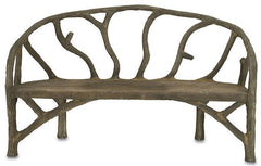Currey and Company Arbor Bench-Life on Plum by Currey and Company