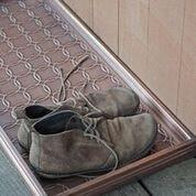 Circles Multi-Purpose Shoe Tray for Boots, Shoes, Plants, Pet Bowls, and More, Copper Finish by Good Directions Life on Plum