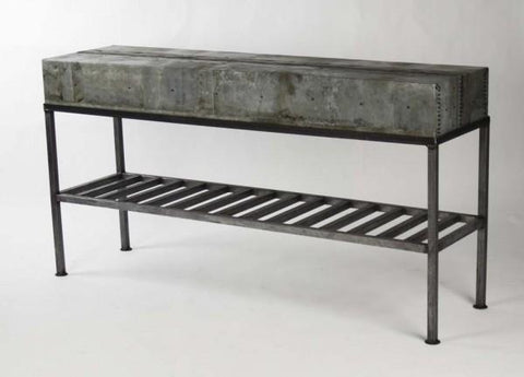 Zentique Burke Patched Recycled Metal Console