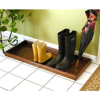 Squares Multi-Purpose Shoe Tray for Boots, Shoes, Plants, Pet Bowls, and More, Copper Finish by Good Directions