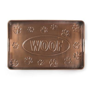 Woof Multi-Purpose Shoe Tray for Boots, Shoes, Plants, Pet Bowls, and More, Copper Finish by Good Directions