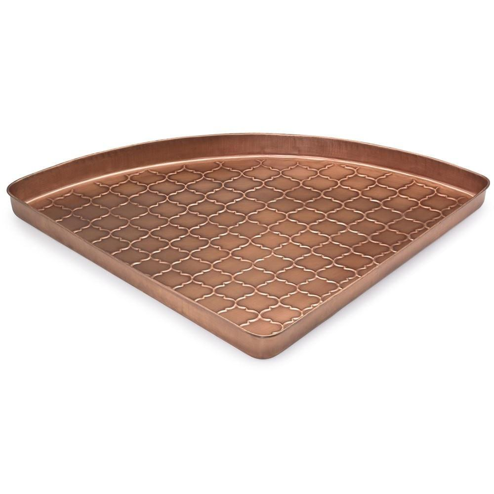 Barcelona Multi-Purpose Shoe Tray for Boots, Shoes, Plants, Pet Bowls, and More, Copper Finish by Good Directions Life on Plum