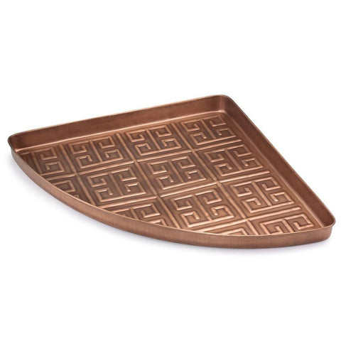 Image of Athens Multi-Purpose Shoe Tray for Boots, Shoes, Plants, Pet Bowls, and More, Copper Finish by Good Directions Life on Plum