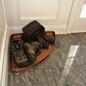 International Multi-Purpose Shoe Tray for Boots, Shoes, Plants, Pet Bowls, and More, Copper Finish by Good Directions