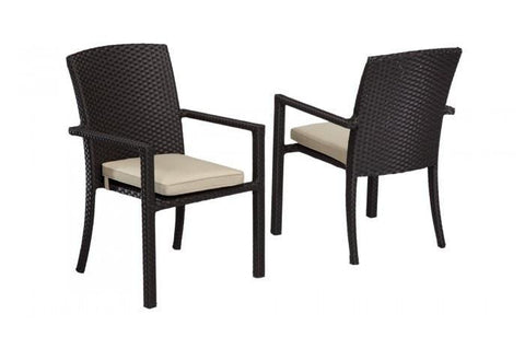 Sunset West Solana Outdoor Dining Chair with Arm