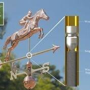 Jumping Horse & Rider Weathervane - Polished Copper by Good Directions