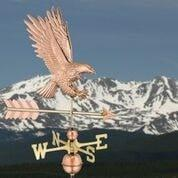 American Bald Eagle Weathervane - Polished Copper by Good Directions Life on Plum