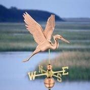 Graceful Blue Heron Weathervane - Polished Copper by Good Directions Life on Plum