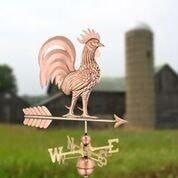 Proud Rooster Weathervane - Polished Copper by Good Directions Life on Plum