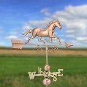Galloping Horse Weathervane - Polished Copper by Good Directions Life on Plum
