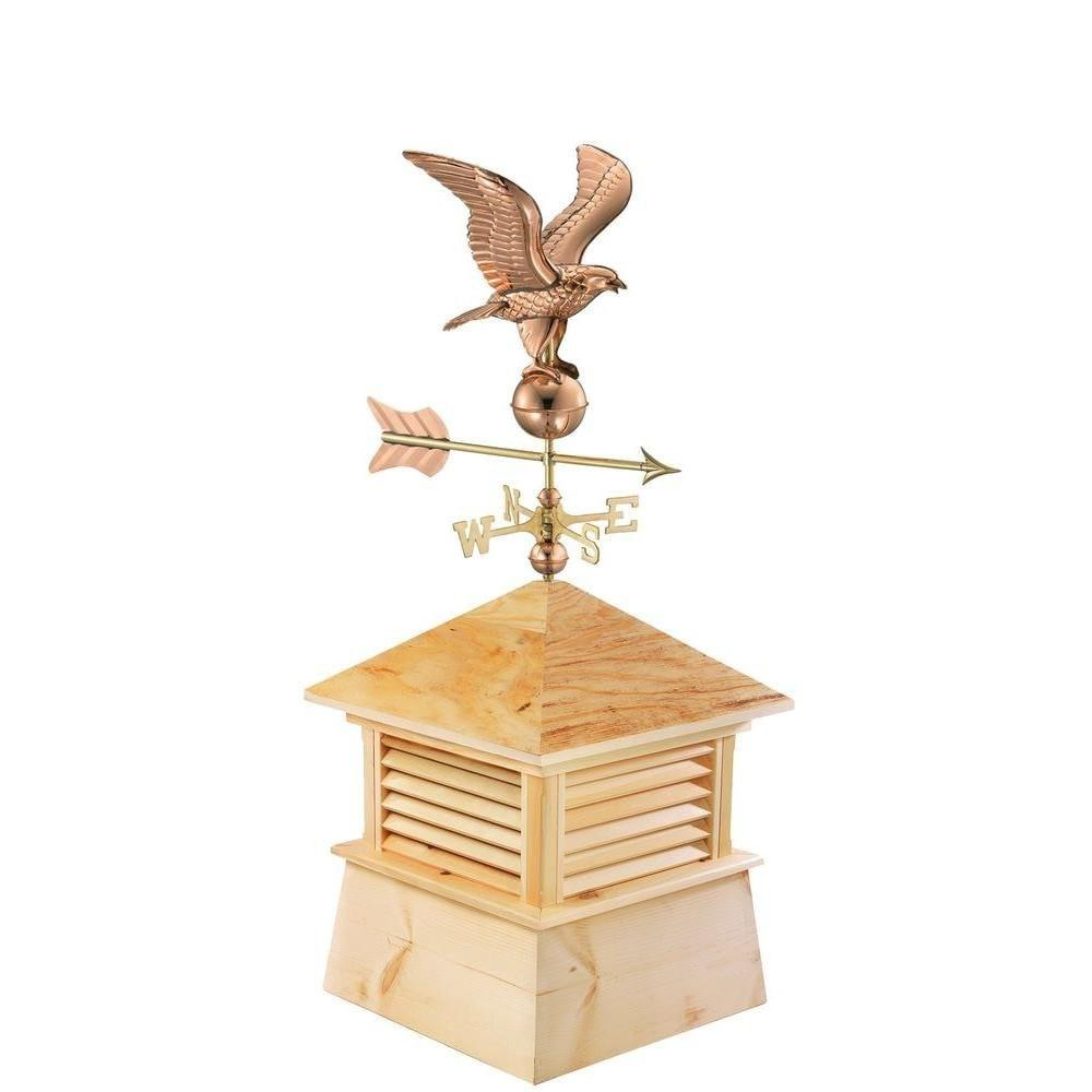 "26"" Square Kent Wood Cupola with Cottage Eagle by Good Directions Life on Plum"