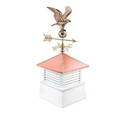 "30"" Square Manchester Vinyl Cupola with Standard American Eagle by Good Directions Life on Plum"