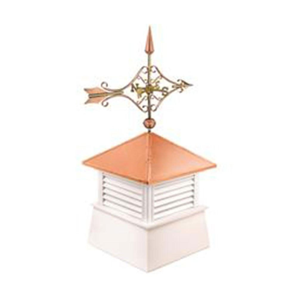 "26"" Square Manchester Vinyl Cupola with Cottage Victorian Arrow by Good Directions Life on Plum"