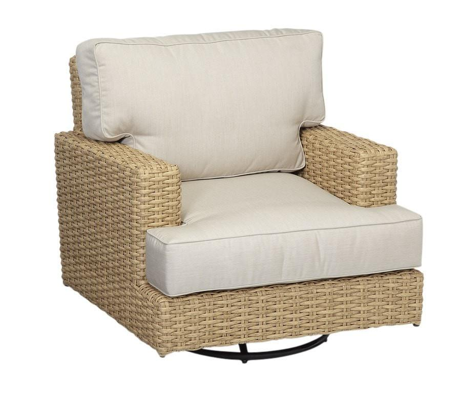 Sunset West Leucadia Swivel Rocking Outdoor Club Chair