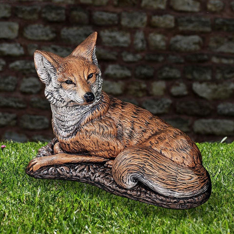 Image of Henri Studio Fox Statue Life on Plum