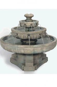 Henri Studio Large Regal Tier Fountain Life on Plum