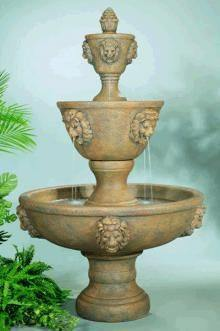 Image of Henri Studio Large Three-Tier Leonesco Fountain Life on Plum