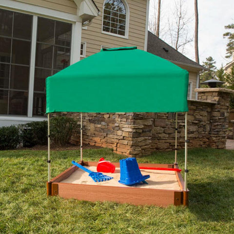 Frame It All Square Sandbox 2in 4x4ft 1 Level c/w Telescoping Canopy/Cover